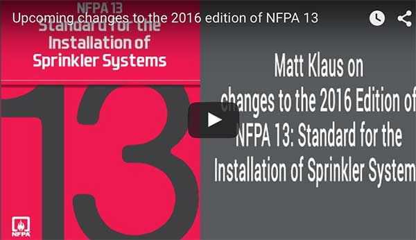 NFPA13 2016 Matt Klaus Review